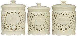 kitchen canisters ceramic sets tea coffee sugar jars lace ceramic home kitchen office storage canisters set ceramics lace