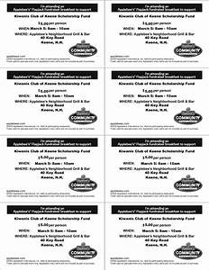 7 best images of event ticket template printable free With fundraiser dinner tickets template