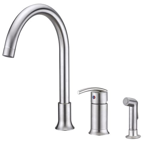 single handle kitchen faucet with side spray sweep collection single handle kitchen faucet with side
