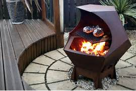 Handmade Recycled Metal Fire Pit Bowl  Fire Pits