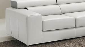 canape d39angle reversible en cuir blanc haut de gamme With canape angle haut de gamme