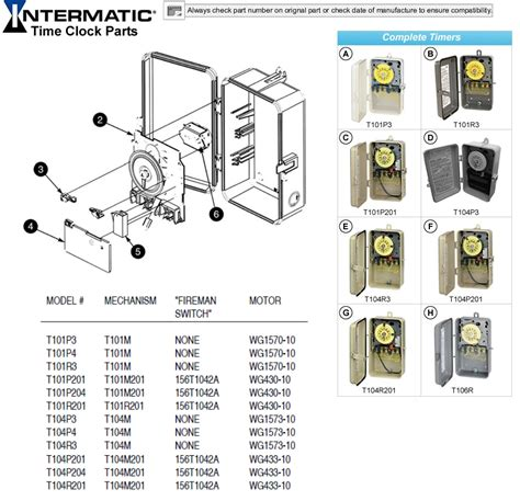 intermatic time clock parts intermatic pool timer parts