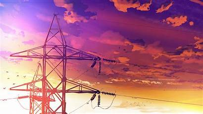 Anime Sunset Evening Styled Wallpapers 4k Powerlines