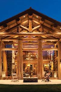Jackson Hole WY Handcrafted Log Home By PrecisionCraft