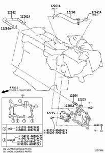 Toyota Sienna Engine Crankcase Vent Valve  Separator  Case
