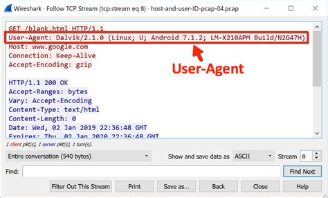 wireshark agent user host pcap hosts users using google identifying android figure line chrome