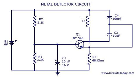 Metal Detector Circuit Diagrams Schematics Electronic