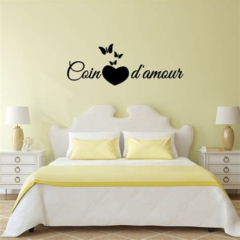 stickers muraux citations chambre sticker citation chambre coin d 39 amour pas cher stickers