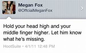 Megan Fox Middle Finger Quotes. QuotesGram