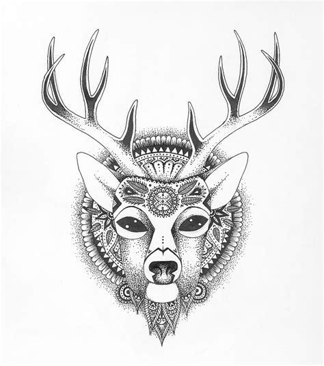 love this deer drawing .Mandalas and doodles | Tumblr ...