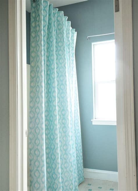 diy lined shower curtain centsational
