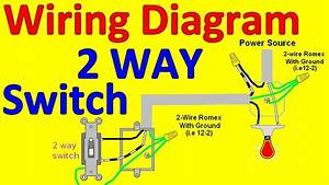 1 Gang 3 Way Light Switch Wiring Diagram : 2 way light switch wiring diagrams youtube ~ A.2002-acura-tl-radio.info Haus und Dekorationen