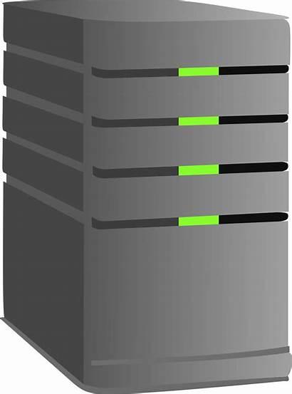 Server Clip Clipart Dedicated Vector Computer Cliparts