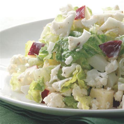 recipes for chopped creamy chopped cauliflower salad recipe eatingwell