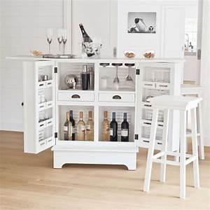 Meuble Bar Maison Du Monde : meuble de bar en bois blanc l 80 cm barbade maisons du monde ~ Nature-et-papiers.com Idées de Décoration