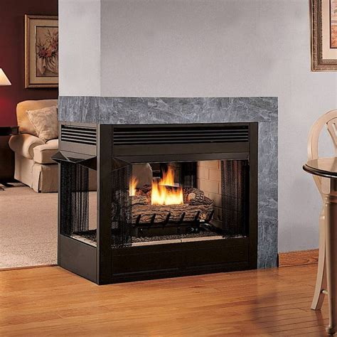 propane gas fireplace multifunction sided ventless gas fireplace smell