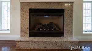 Ivory, Brown, Granite, Fireplace, Surround