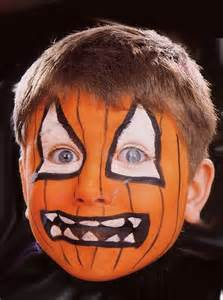 Halloween Pumpkin Face Painting Ideas