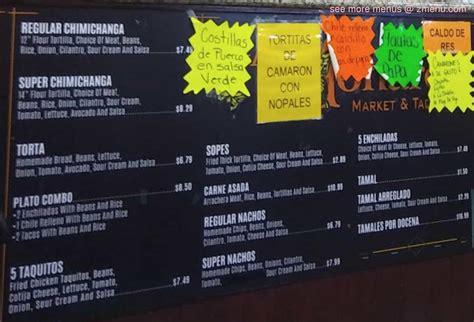 menu  la monarca restaurant  lake