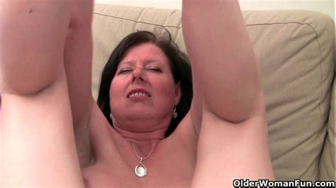 British Mom Julie With Her Big Tits And Hairy Pussy Gets