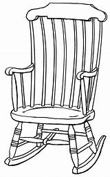 Chair Rocking Outline Clipart Drawing Drawings Chairs Line Clip Wooden Adirondack Cliparts Colouring Plans Collaboration Library Plan Psf Grandchildren Quotes sketch template