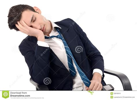business sleeping in the chair royalty free