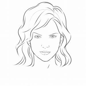 Face Drawing Outline Woman Face Drawing Outline Draw A ...