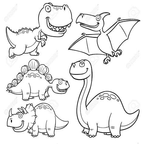 Ilustracià N Vectorial De Dinosaurios Personajes De