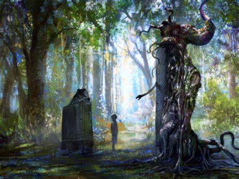 fantasy forest magic painting art wall sticker art