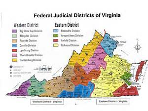 Map United States District Court Virginia