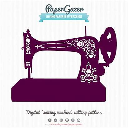 Sewing Machine Svg Silhouette Clipart Singer Cutting