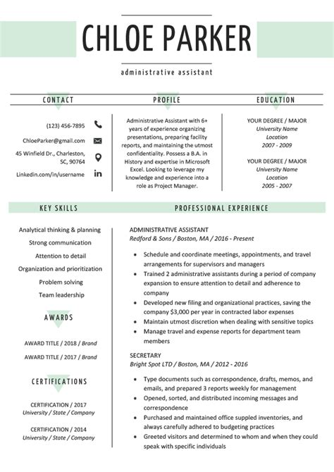 Free Resume Templates Word by Free Creative Resume Templates Downloads Resume Genius