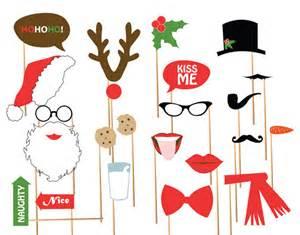 DIY Christmas Photo Booth Props Printable
