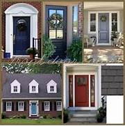 Front Door Paint Colors For Brick Homes by Red Brick House Black Shutters But What Color Door For The Home Pinte