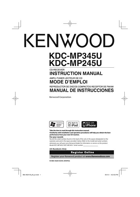 kenwood kdc mpu user manual  pages   kdc