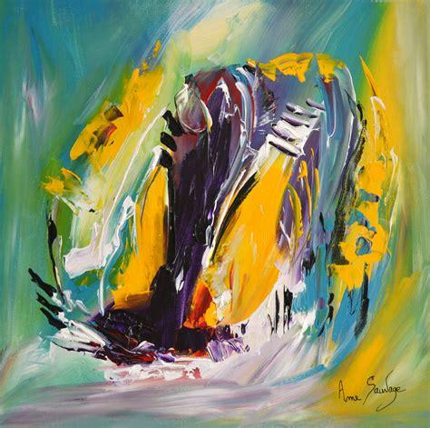 artiste peintre abstrait moderne tableau abstrait moderne au couteau