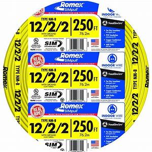 Southwire 250 Ft  12  2  2 Solid Romex Simpull Cu Nm G