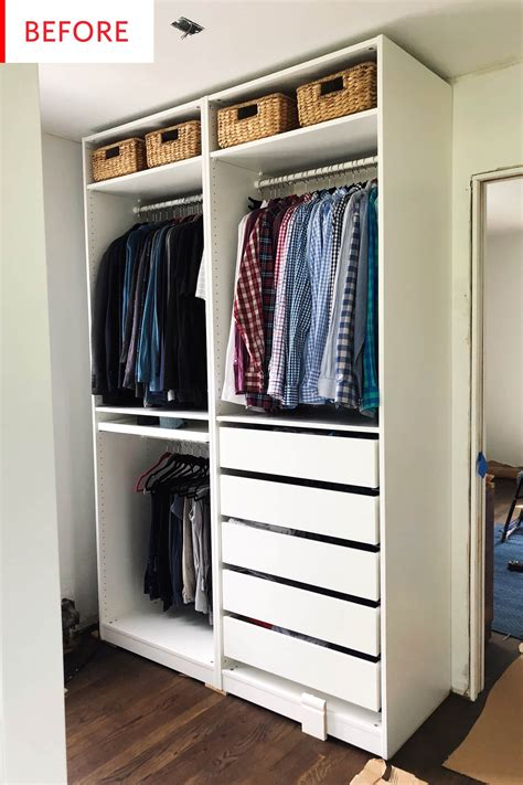 Closet Guilt by Before And After An Elevated Ikea Pax Closet Hack For The