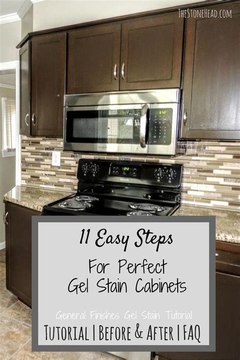 gel paint kitchen cabinets how to apply gel stain to cabinets www 3741