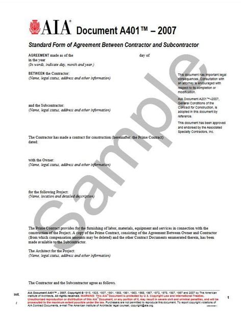 standard form of agreement between owner and contractor a401 2007 standard form of agreement between contractor