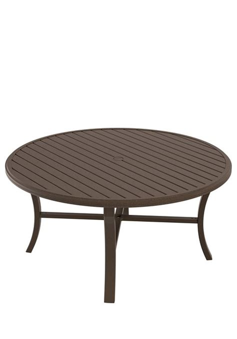 outdoor dining table with umbrella hole dining table 60 quot round banchetto with umbrella hole