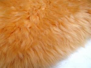 Peau De Mouton : caresse coussin peau de mouton orange coussins en peau de mouton n 2529 50x50cm ~ Teatrodelosmanantiales.com Idées de Décoration
