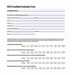 sample candidate evaluation form 9 free documents With candidate evaluation template