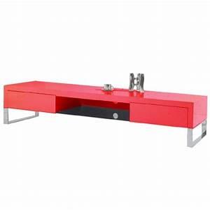 meuble tele laque rouge arto achat vente meuble tv With meuble tv rouge laque