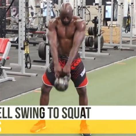 squat kettlebell swing skimble exercise