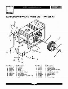 6500xl Extended Life Generator  Exploded View And Parts