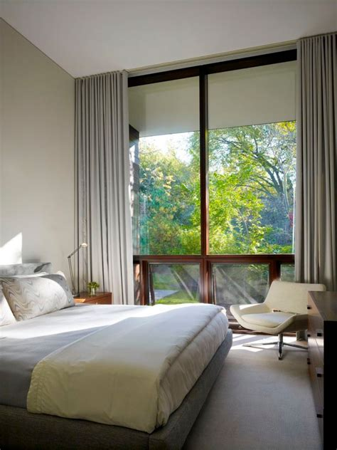 ceiling mounted curtains bedroom modern  carpeting