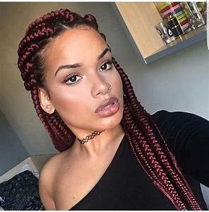 Red box braids | Braids and Twists | Pinterest | Red box ...