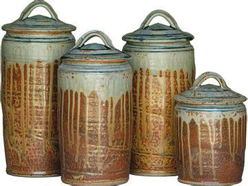 Pottery Canisters Kitchen by Stoneware Canister Set From Shaker Workshops My Style