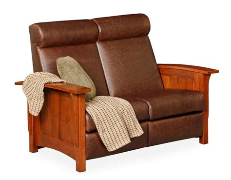Mission Loveseat Recliner by Amish Paneled Mission Recliner Loveseat Sofa Couches